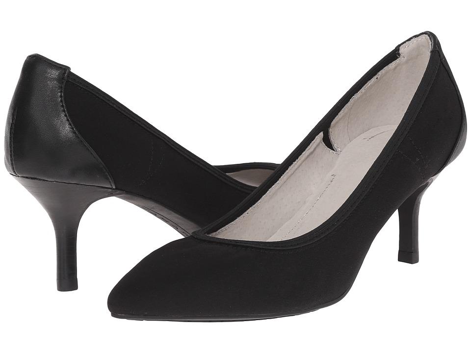 Tahari Toby Black Tricot/Soft Nappa High Heels