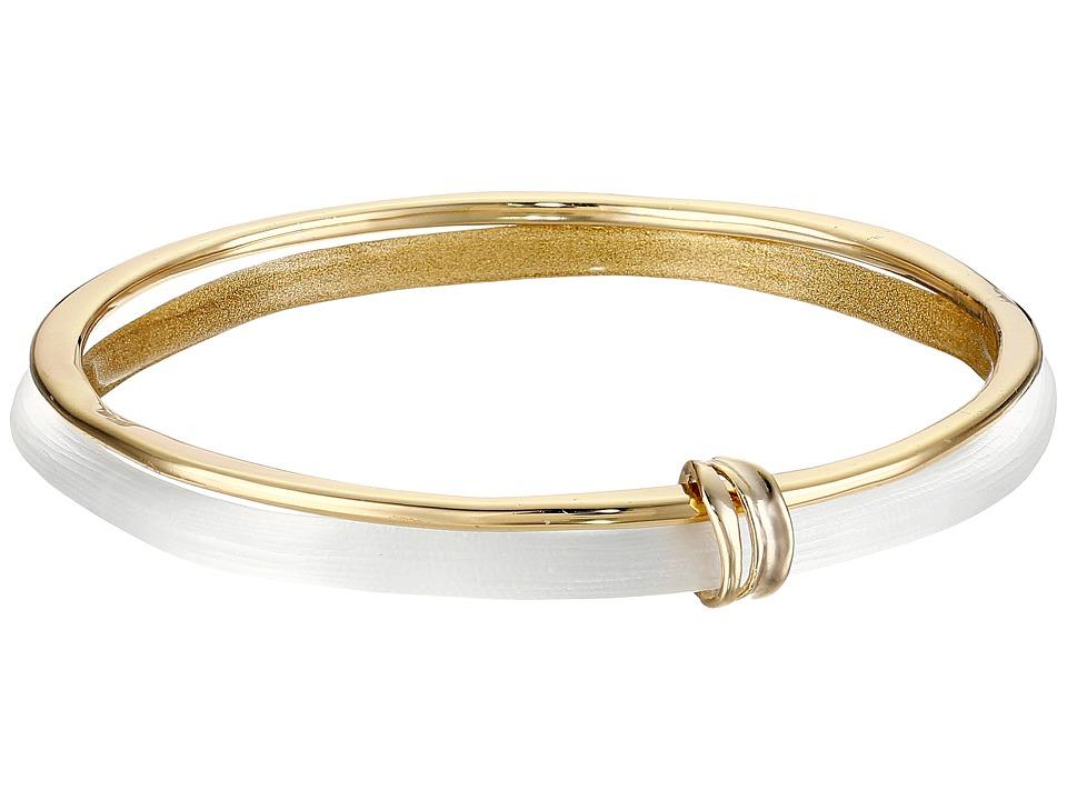 Alexis Bittar Liquid Metal Paired Bangle Bracelet Silver Bracelet