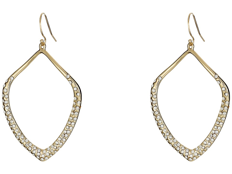 Alexis Bittar Pave Kite Shaped Orbit Wire Gold Earring