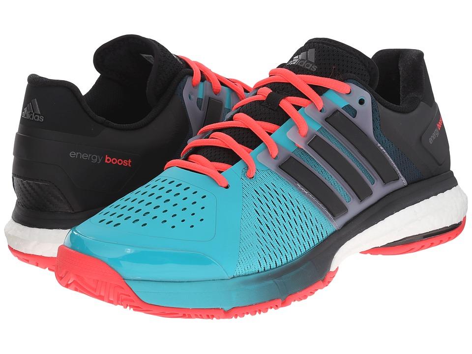 adidas - Tennis Energy Boost (Shock Green/Black/Shock Red) Men