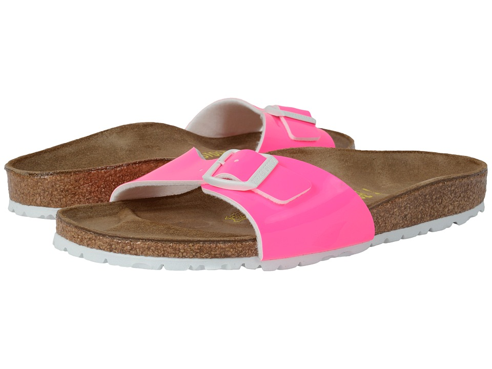 Birkenstock Madrid Neon Pink Patent Birko Flor Womens Shoes