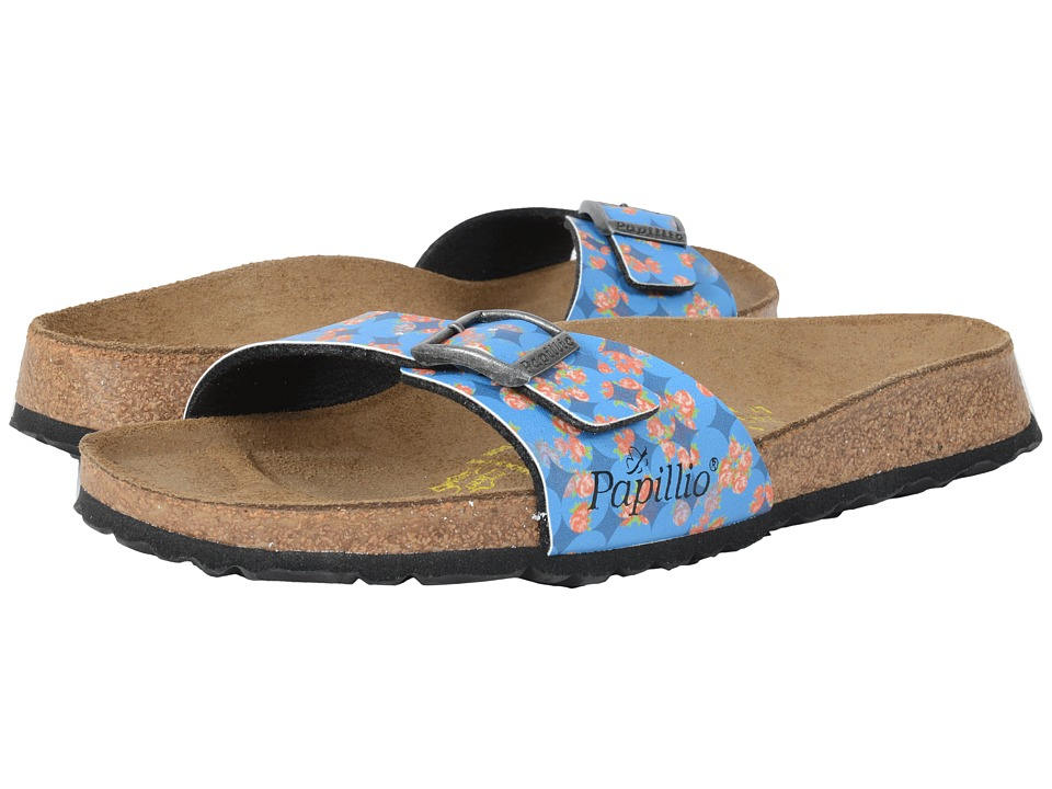 Birkenstock Madrid Floral Circles Blue Birko Flor Womens Shoes
