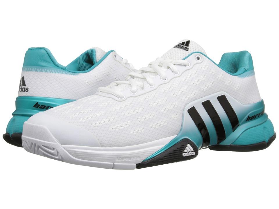 adidas - Barricade 2016 (White/Black/Shock Green) Men