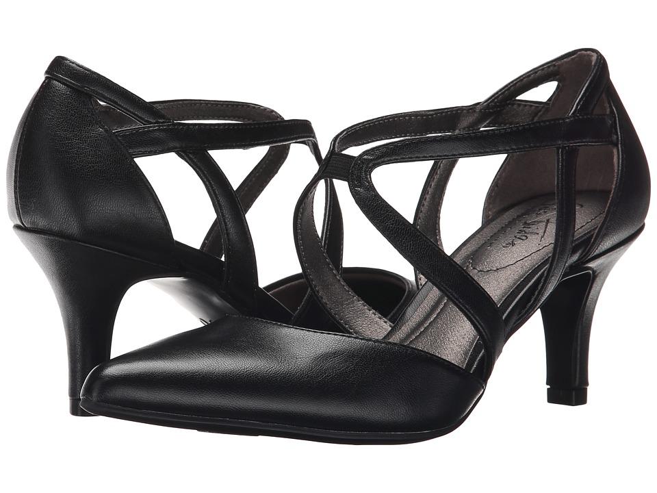 Vintage Style Shoes, Vintage Inspired Shoes LifeStride Seamless Black Vinci High Heels $59.99 AT vintagedancer.com