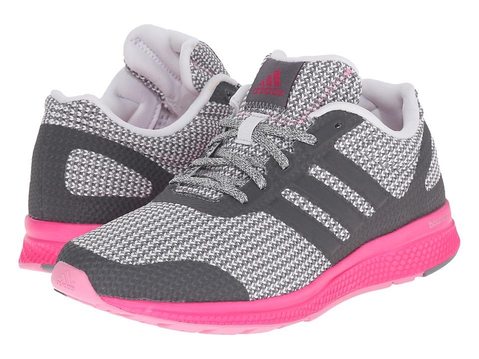 adidas Running Mana Bounce W Vista Grey/Crystal White/Shock Pink Womens Running Shoes
