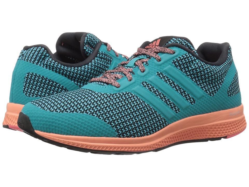 adidas Running Mana Bounce W Black/Shock Green/Sun Glow Womens Running Shoes