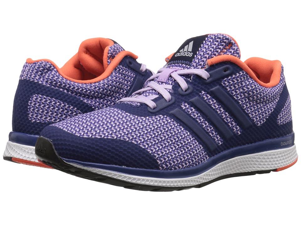 adidas Running Mana Bounce W Raw Purple/Purple Glow/Super Orange Womens Running Shoes