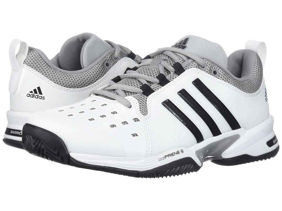 adidas - Barricade Classic Bounce (White/Black/Grey Heather) Men