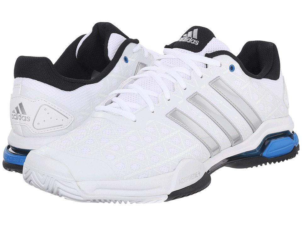 adidas - Barricade Club (White/Matte Silver/Black) Mens Tennis Shoes