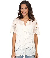 Dylan by True Grit - Daydream Blouse Cotton and Silk Eyelet
