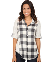 Dylan by True Grit - Vintage Buffalo Check Roll Sleeve Blouse