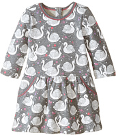 Pumpkin Patch Kids - Finding Anastasia Swan Print Dress (Infant/Toddler/Little Kids/Big Kids)