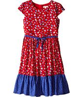 Pumpkin Patch Kids - Urban Folk Floral Tiered Dress (Little Kids/Big Kids)