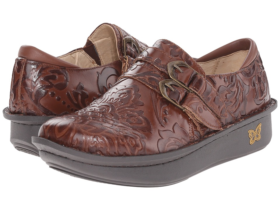 Alegria Alli Professional Yeehaw Brown Womens Clog Shoes