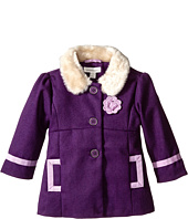 Pumpkin Patch Kids - Finding Anastasia Fur Collar Coat (Infant/Toddler/Little Kids)
