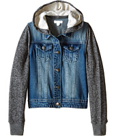 Pumpkin Patch Kids - Urban Folk W/S Hooded Denim Jacket (Little Kids/Big Kids)