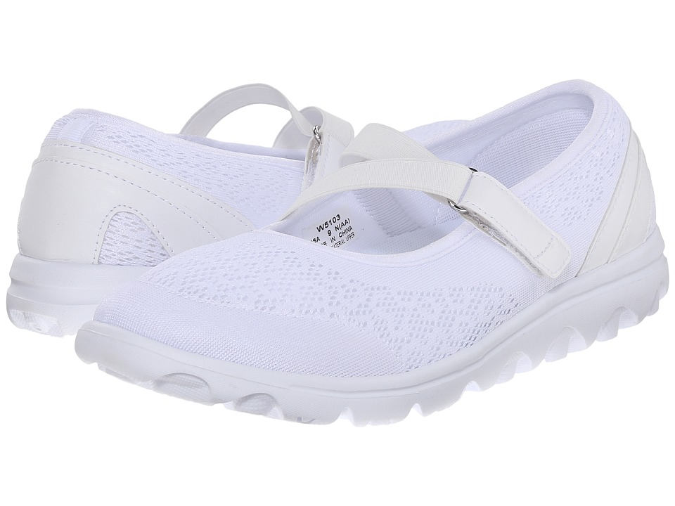 Propet TravelActiv Mary Jane (White) Women's Shoes
