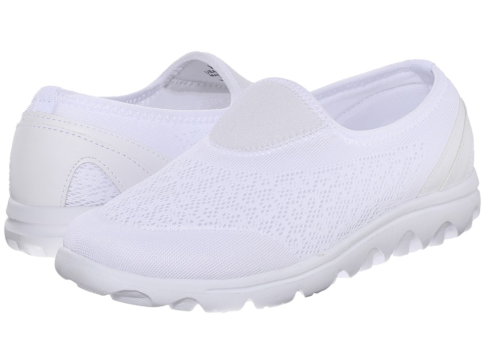 Propet TravelActiv Slip-On (White) Slip-On Shoes