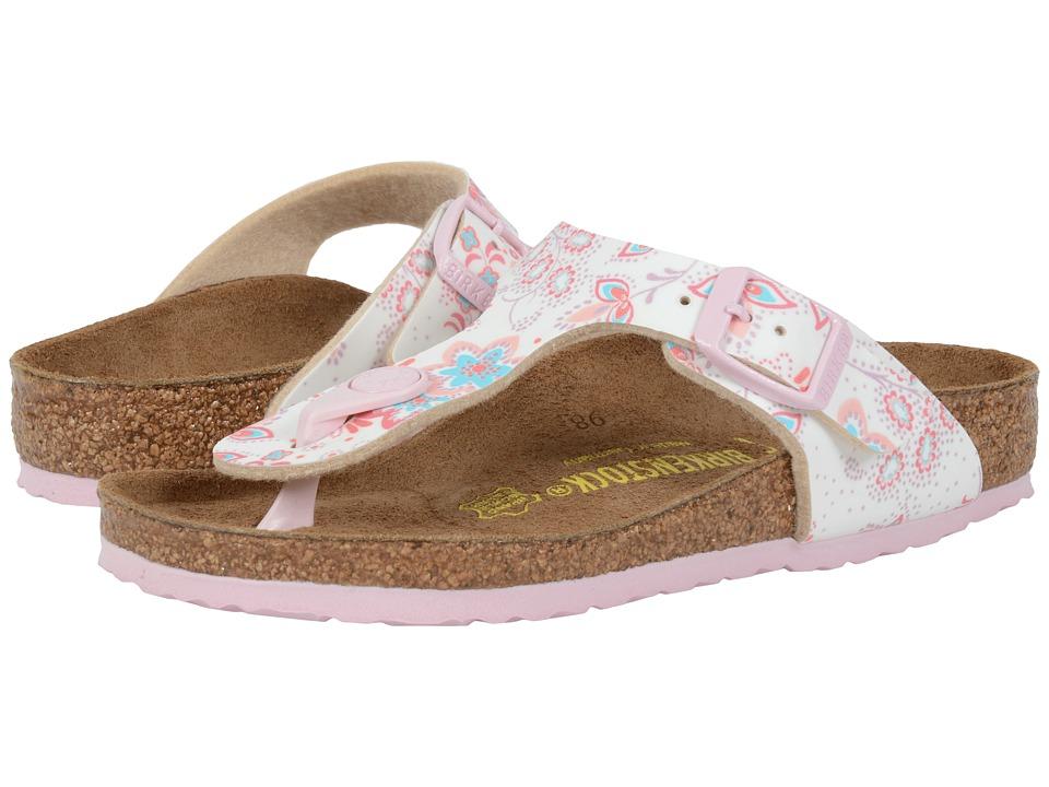 Birkenstock Kids Gizeh Little Kid/Big Kid Cute Flowers Rose Birko Flor Girls Shoes