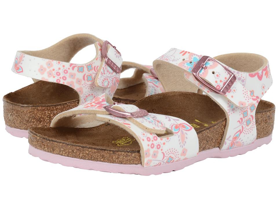 Birkenstock Kids Rio Toddler/Little Kid/Big Kid Cute Flowers Rose Birko Flor Girls Shoes