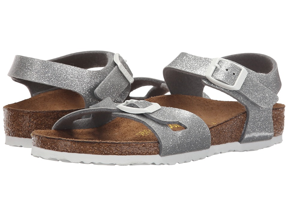 Birkenstock Kids Rio (Toddler/Little Kid/Big Kid) (Magic Galaxy Silver Birko-Flor ) Girls Shoes