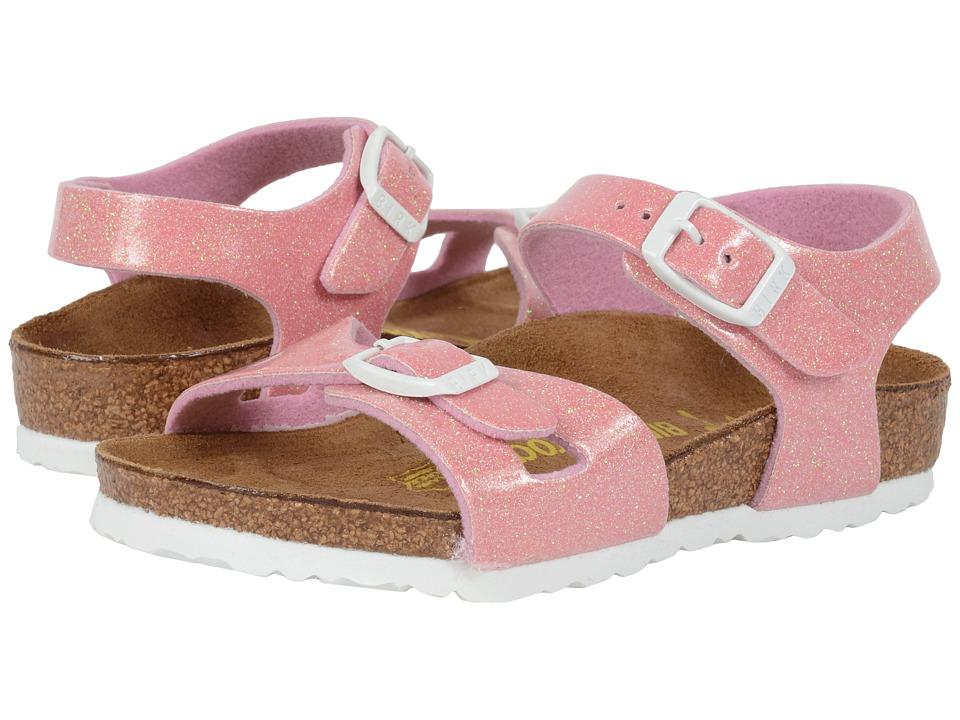 Birkenstock Kids Rio Toddler/Little Kid/Big Kid Magic Galaxy Pink Birko Flor Girls Shoes