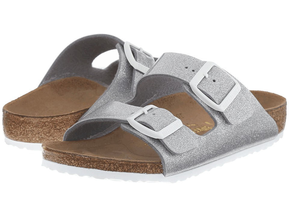 Birkenstock Kids Arizona (Toddler/Little Kid/Big Kid) (Magic Galaxy Silver Birko-Flor ) Girls Shoes