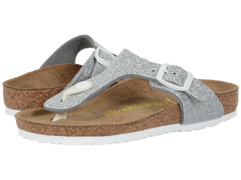 Birkenstock Kids Gizeh Little Kid/Big Kid Magic Galaxy Silver Birko Flor Girls Shoes