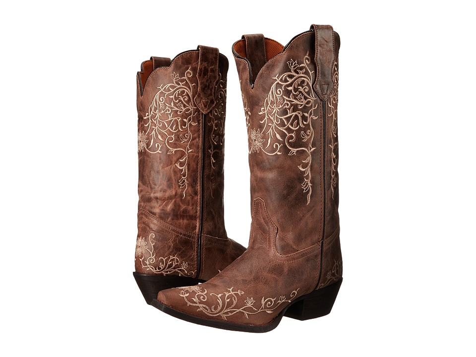 Laredo - Jasmine (Taupe/Bone Flower Embossed) Cowboy Boots