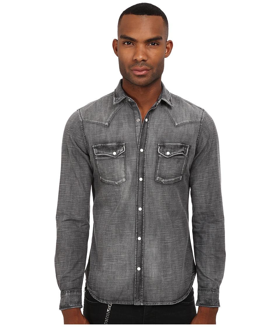 The Kooples - Washed Black Denim Shirt