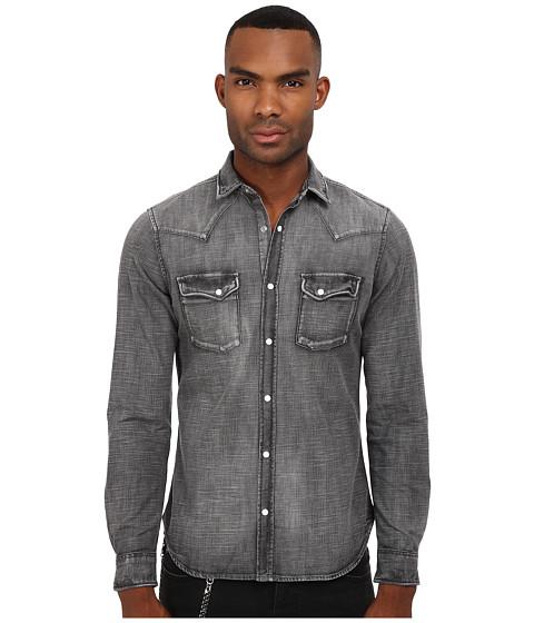 The Kooples Washed Black Denim Shirt