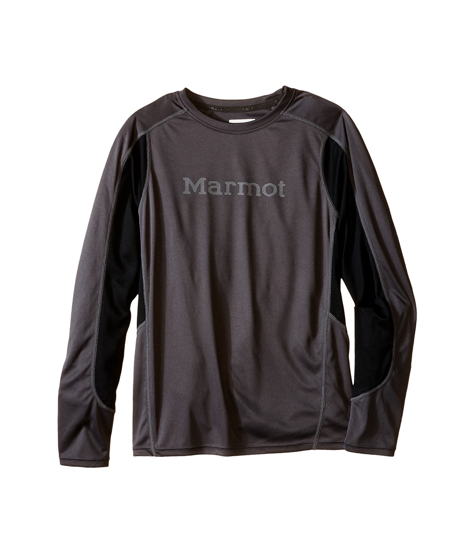 Marmot Kids Windridge w/ Graphic L/S Top Little Kids/Big Kids Slate Grey/Black Boys Long Sleeve Pullover