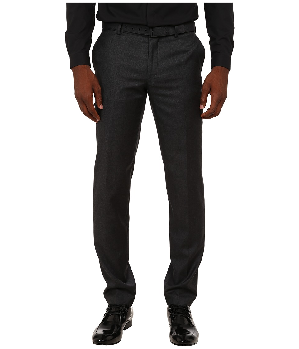 The Kooples Fitted Tailor Super 100 Trousers Grey Mens Casual Pants