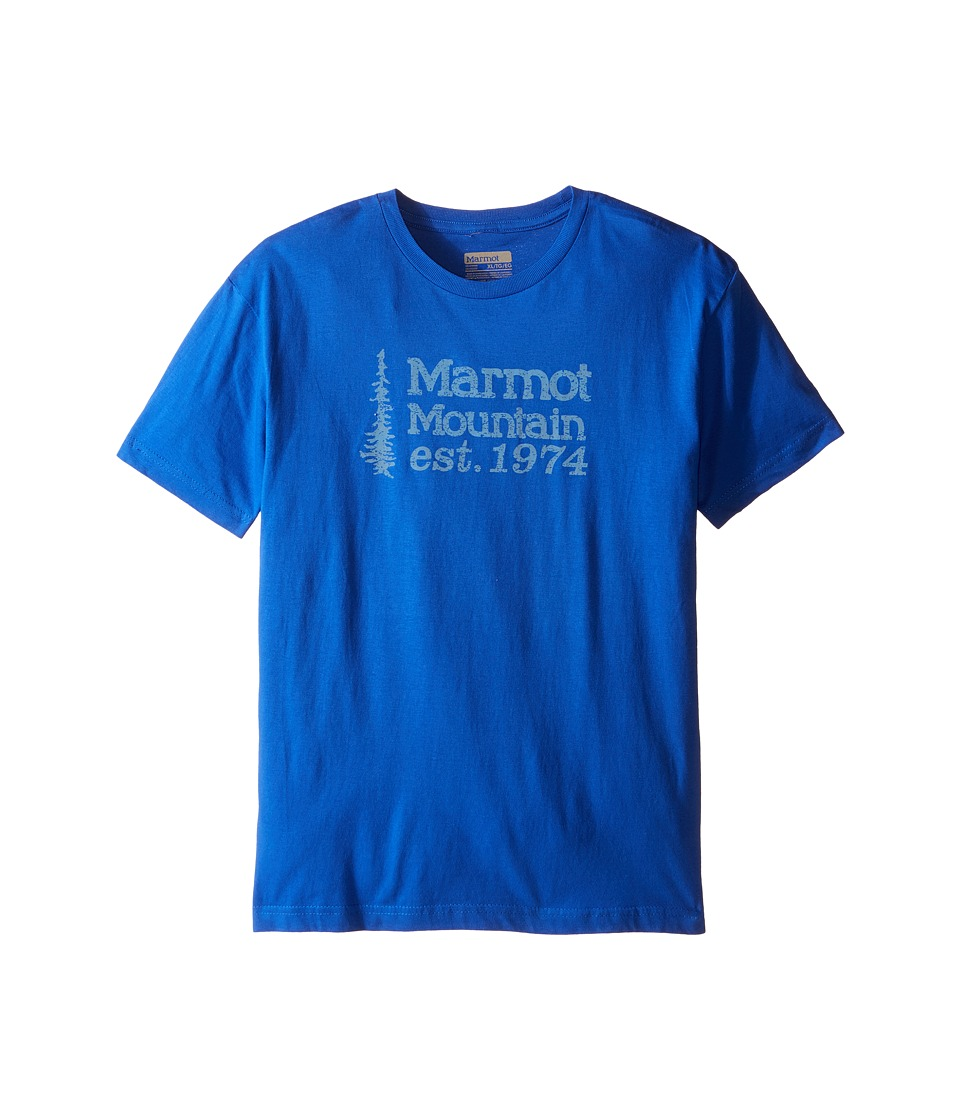 Marmot Kids 74 Tee Short Sleeve Little Kids/Big Kids Royal Boys T Shirt