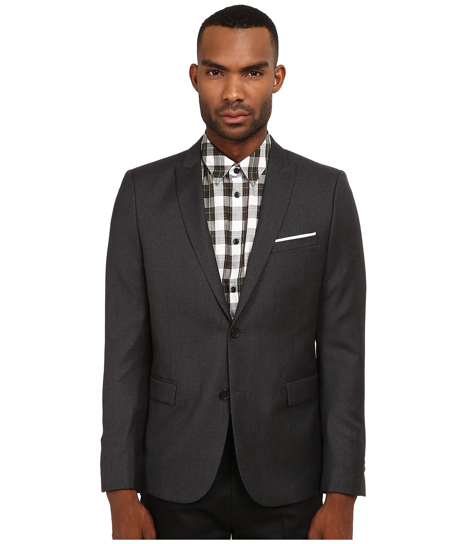 The Kooples Fitted Tailor Super 100 Blazer Grey Mens Jacket