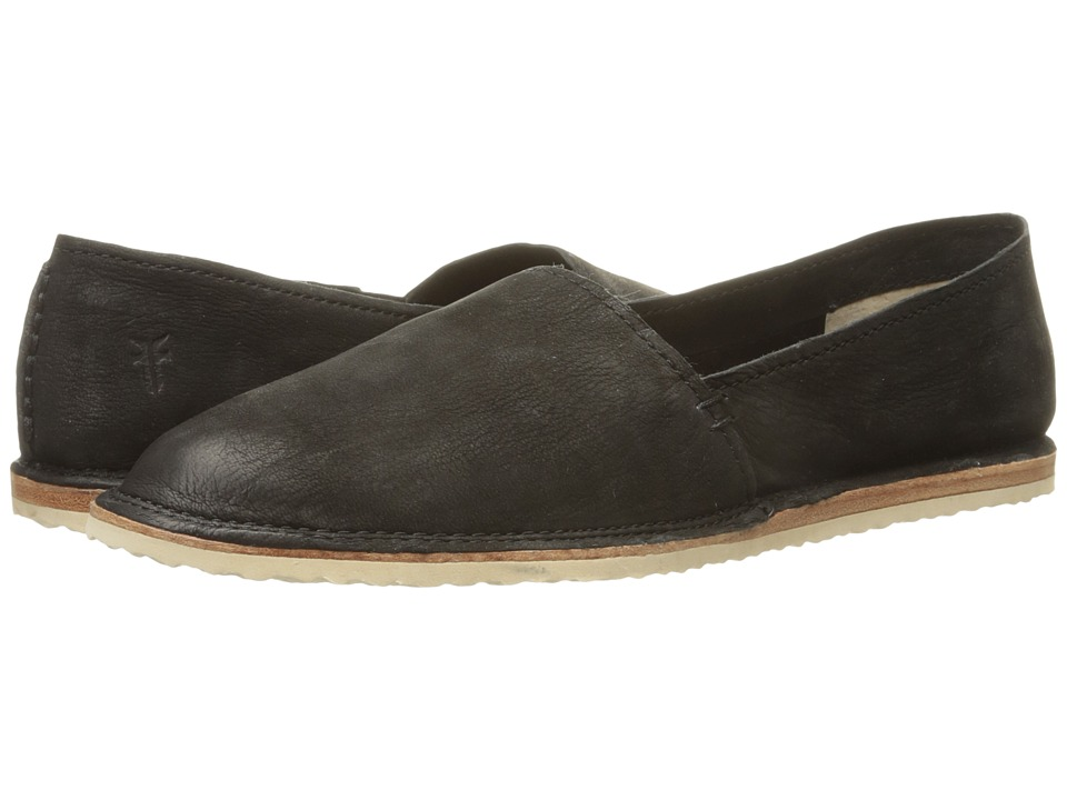 Frye Milly A Line Black Soft Oiled Nubuck Womens Slip on Shoes
