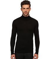 The Kooples - Merino and Leather Turtleneck Sweater