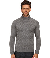 The Kooples - Sport Cable Wool Turtleneck Sweater