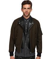 The Kooples - Authentic Woolen Leather Layered Bomber