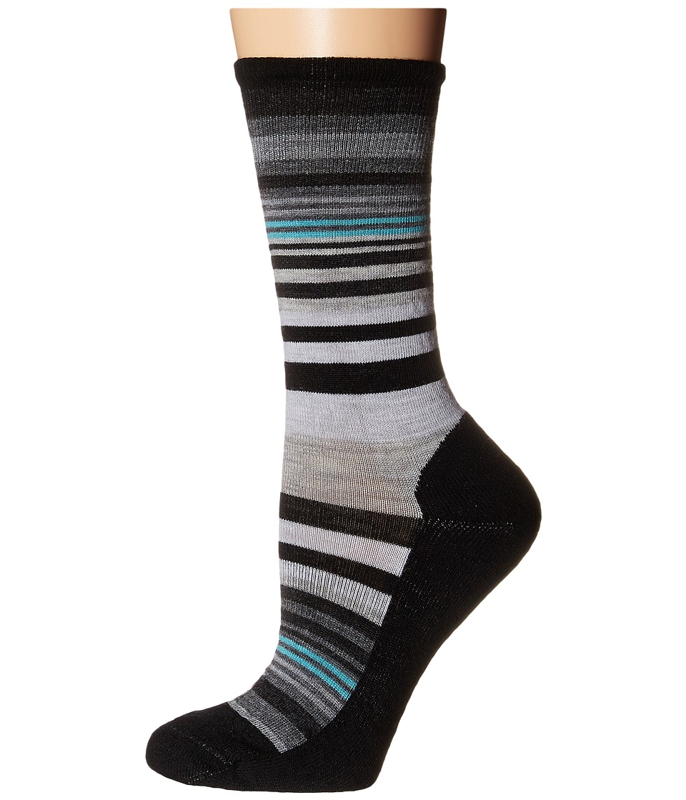 Smartwool - Jovian Stripe (Black) Womens Crew Cut Socks Shoes