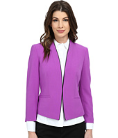Nine West - Bi Stretch Kiss Front Collarless Piped Jacket