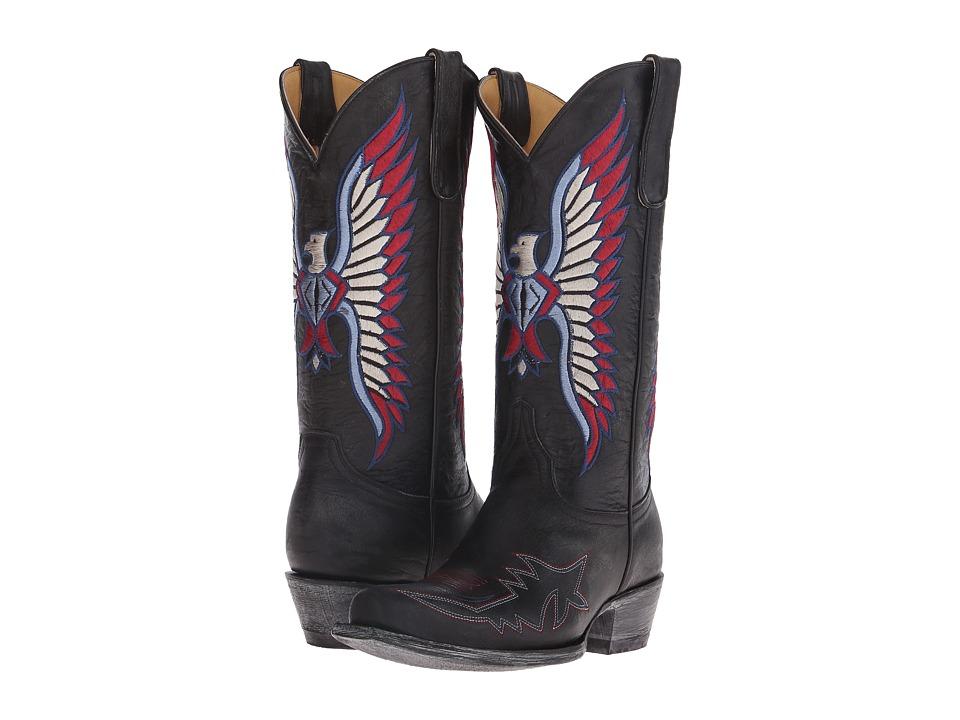 Old Gringo America Eagle (Black) Cowboy Boots
