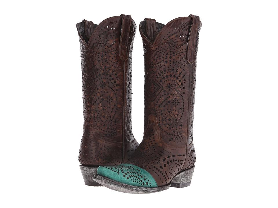 Old Gringo Strecher (Brass) Cowboy Boots