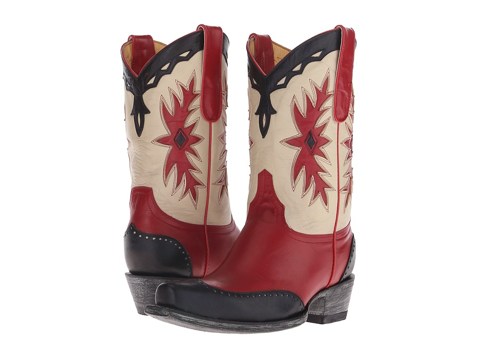 Old Gringo - Miesha (Red/Bone/Blue) Cowboy Boots