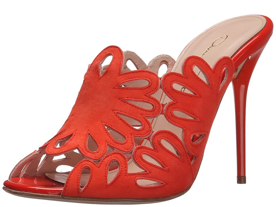 Oscar de la Renta Jelia 100mm (Persimmon Suede/Patent Leather) Women