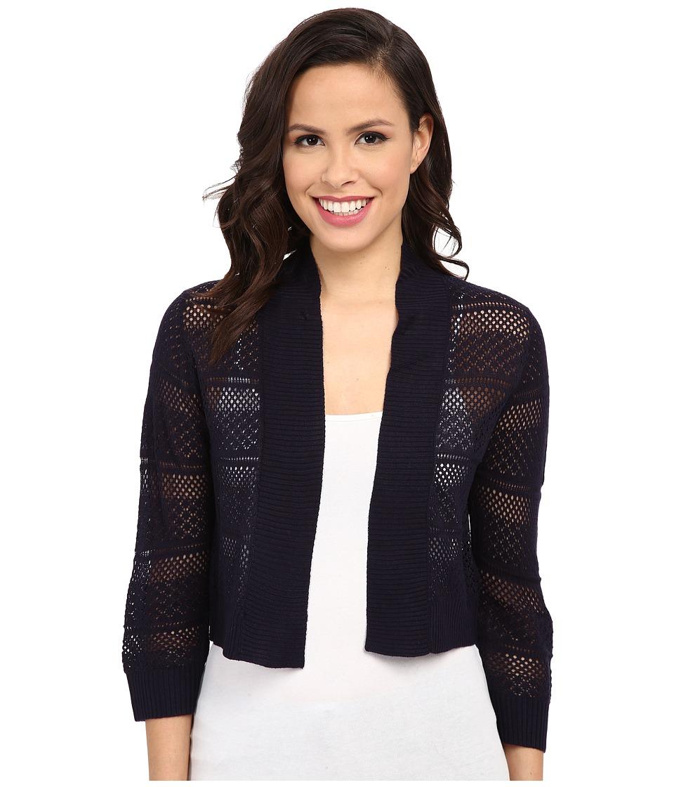 rsvp Bre Crochet Shrug Navy Womens Sweater