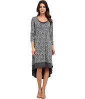 "Mod-o-doc - ""Leopard Skinz"" Burnout Jersey Double Layer Scoopneck Hi-Low Hem Dress"