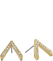 Rebecca Minkoff - Pave V Button Earrings