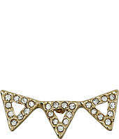 Rebecca Minkoff - Three Triangle Button Earrings