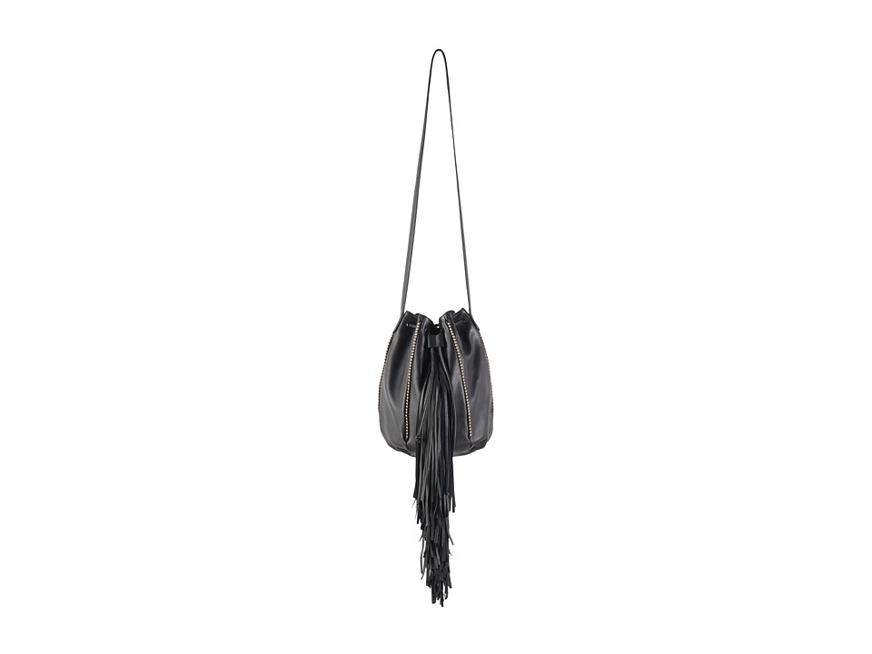 Barbara Bonner Andrea Fringe Piping Gold Caviar Handbags